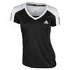 ADIDAS Women`s Club Tennis Tee Black and White