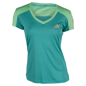 adidas WOMENS CLUB TENNIS TEE SHOCK GRN/GN GL