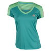 ADIDAS Women`s Club Tennis Tee Shock Green and Green Glow