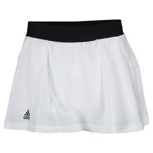 Girls` Club Tennis Skort White and Black