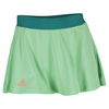 ADIDAS Women`s Club Trend Tennis Skort Green Glow