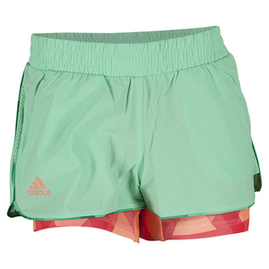 Girls` Club Trend Tennis Short Green Glow and Sun Glow