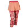 ADIDAS Women`s Club Trend Tennis Skort Leggings Sun Glow and Shock Red