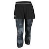 ADIDAS Women`s Club Trend Tennis Skort Leggings Black and White