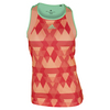 ADIDAS Women`s Club Printed Trend Tennis Tank Sun Glow and Green Glow