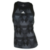 ADIDAS Women`s Club Printed Trend Tennis Tank Black and White