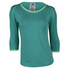 ADIDAS Women`s Tennis Core Three-Quarter Sleeve Tee Shock Green