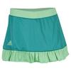 Women`s Court 12 Inch Tennis Skort Shock Green and Green Glow by ADIDAS