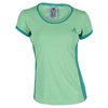 ADIDAS Women`s Court Tennis Tee Green Glow and Shock Green