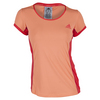 ADIDAS Women`s Court Tennis Tee Sun Glow and Shock Red