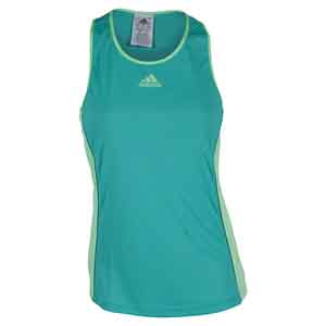 Women`s Court Tennis Tank Shock Green and Green Glow