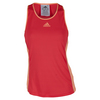 ADIDAS Women`s Court Tennis Tank Shock Red and Sun Glow