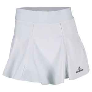 adidas WOMENS SM TENNIS SKORT WHITE