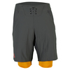 ADIDAS Men`s Adizero Tennis Short DGH Solid Gray and EQT Orange