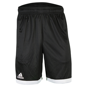 Men`s Court Tennis Short Black and White