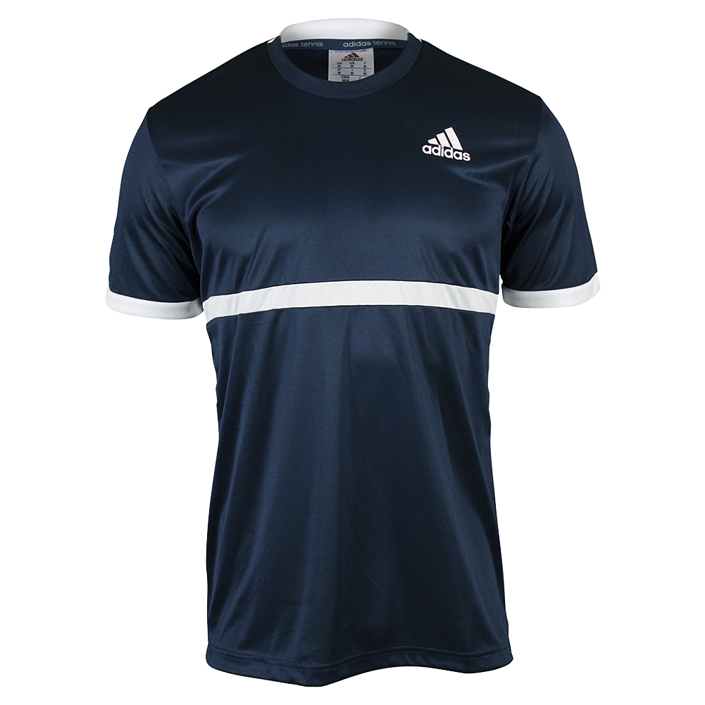 Men's Court Tennis Tee Collegiate Navy And White