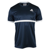 ADIDAS Men`s Court Tennis Tee Collegiate Navy and White