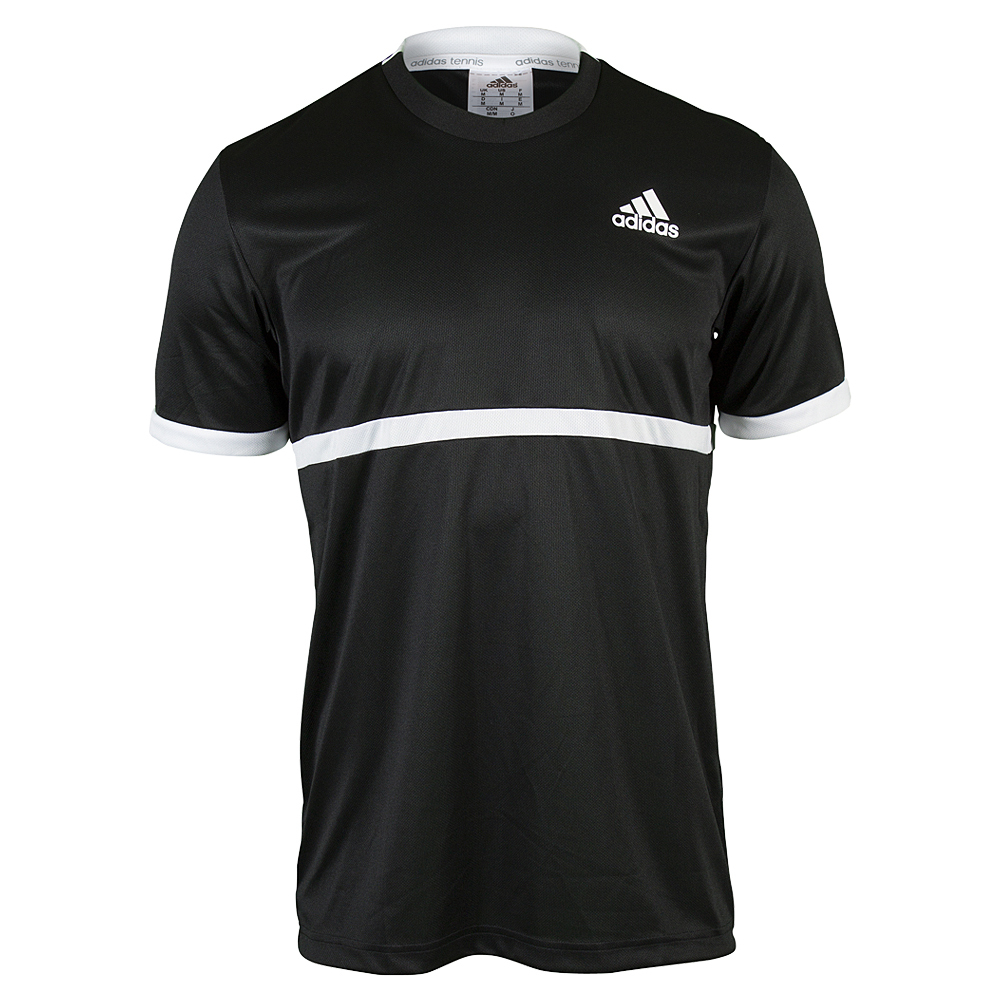 Men's Court Tennis Tee Black And White