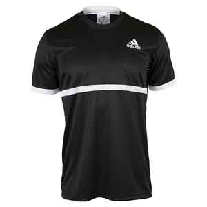 adidas MENS COURT TENNIS TEE BLACK/WHITE