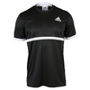 ADIDAS Men`s Court Tennis Tee Black and White