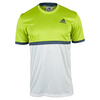 ADIDAS Men`s Court Tennis Tee Semi Solar Slime and White