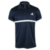 ADIDAS Men`s Court Tennis Polo Collegiate Navy and White