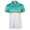 Men`s Court Tennis Polo Shock Green and White by ADIDAS