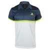 ADIDAS Men`s Court Tennis Polo Mineral Blue and White