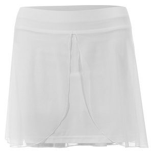SOFIBELLA WOMENS WHITE LILY 15 INCH TENNIS SKORT