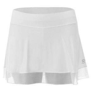 Women`s White Lily 14 Inch Tennis Skort