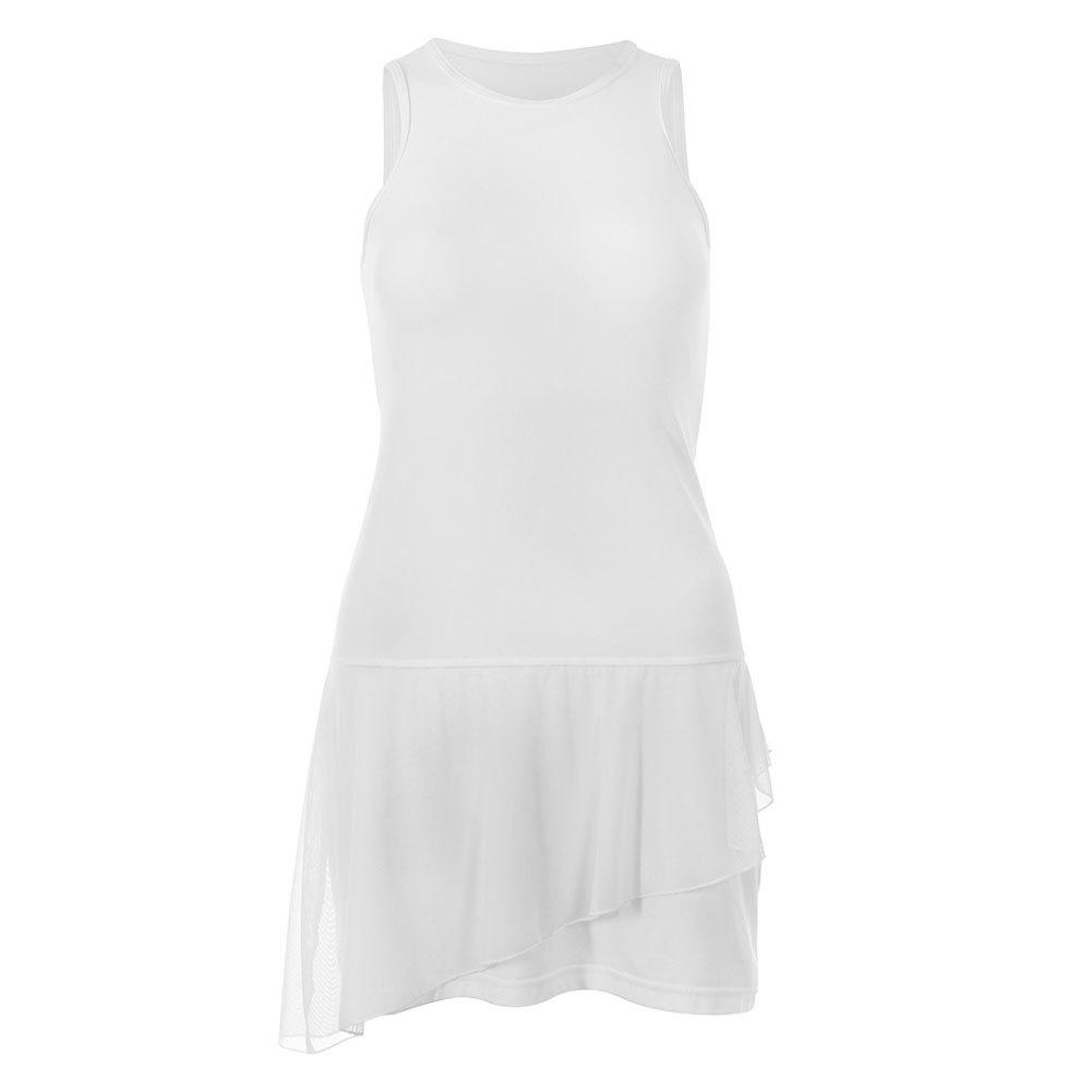 Women's White Lily Full Back Tennis Tank Dress