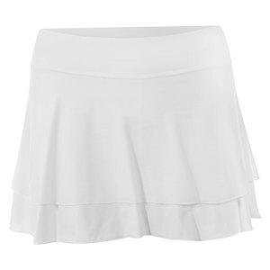 Women`s White Lily 12 Inch Tennis Skort