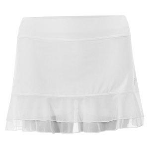 Women`s White Lily 13 Inch Tennis Skort