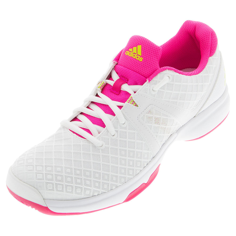 s sonic allegra tennis shoes white and shock pink