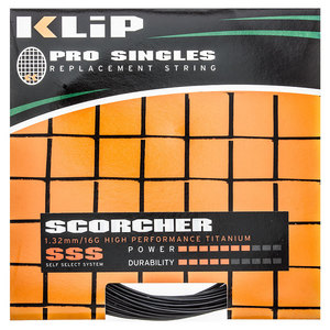 KLIP SCORCHER PRO SINGLE 16G TENNIS STRING BK