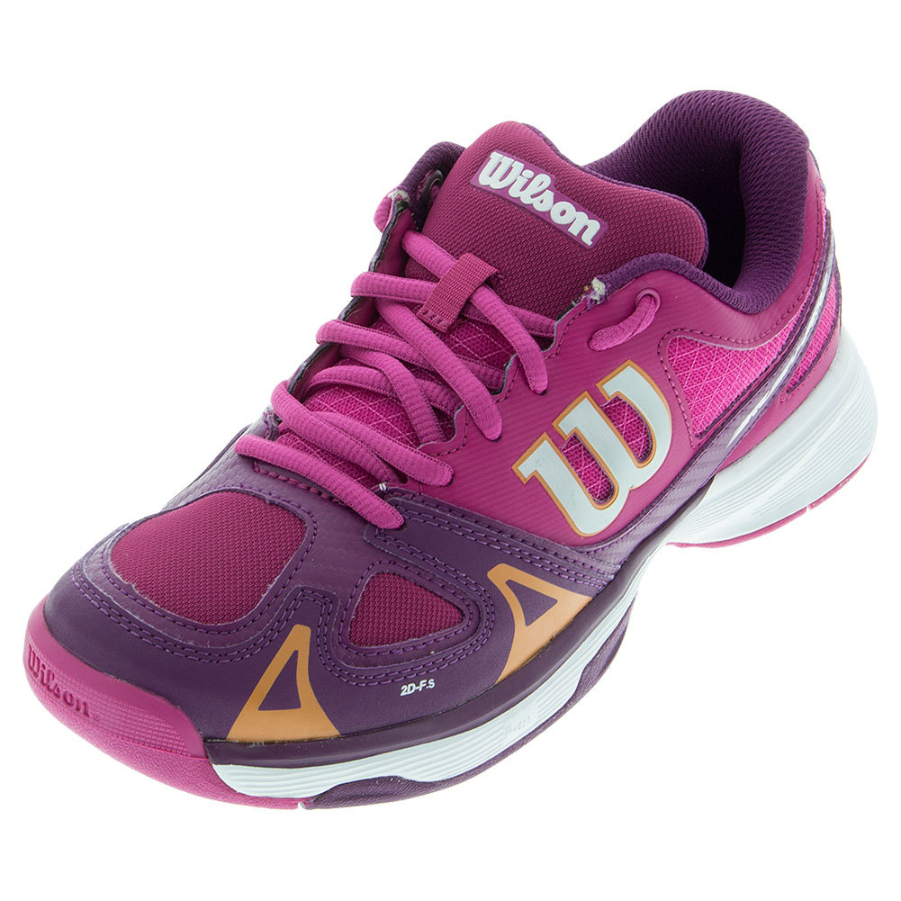 Juniors ` Rush Pro Tennis Shoes Fiesta Pink And Dark Plumberry