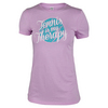 LOVEALL Women`s Tennis is my Therapy Tee Vintage Lilac
