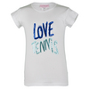 LITTLE MISS TENNIS Girls` Love Tennis Tee White