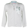 Girls` Love Tennis Jacket White by LITTLE MISS TENNIS