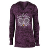 LOVEALL Women`s Love the Game Tennis Hoodie Plum Burnout