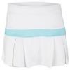LITTLE MISS TENNIS Girls` Pleated Tennis Skort White and Ocean