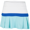 LITTLE MISS TENNIS Girls` Pleated Tennis Skort White and Blue