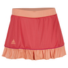 ADIDAS Women`s Court 12 Inch Tennis Skort Shock Red and Sun Glow