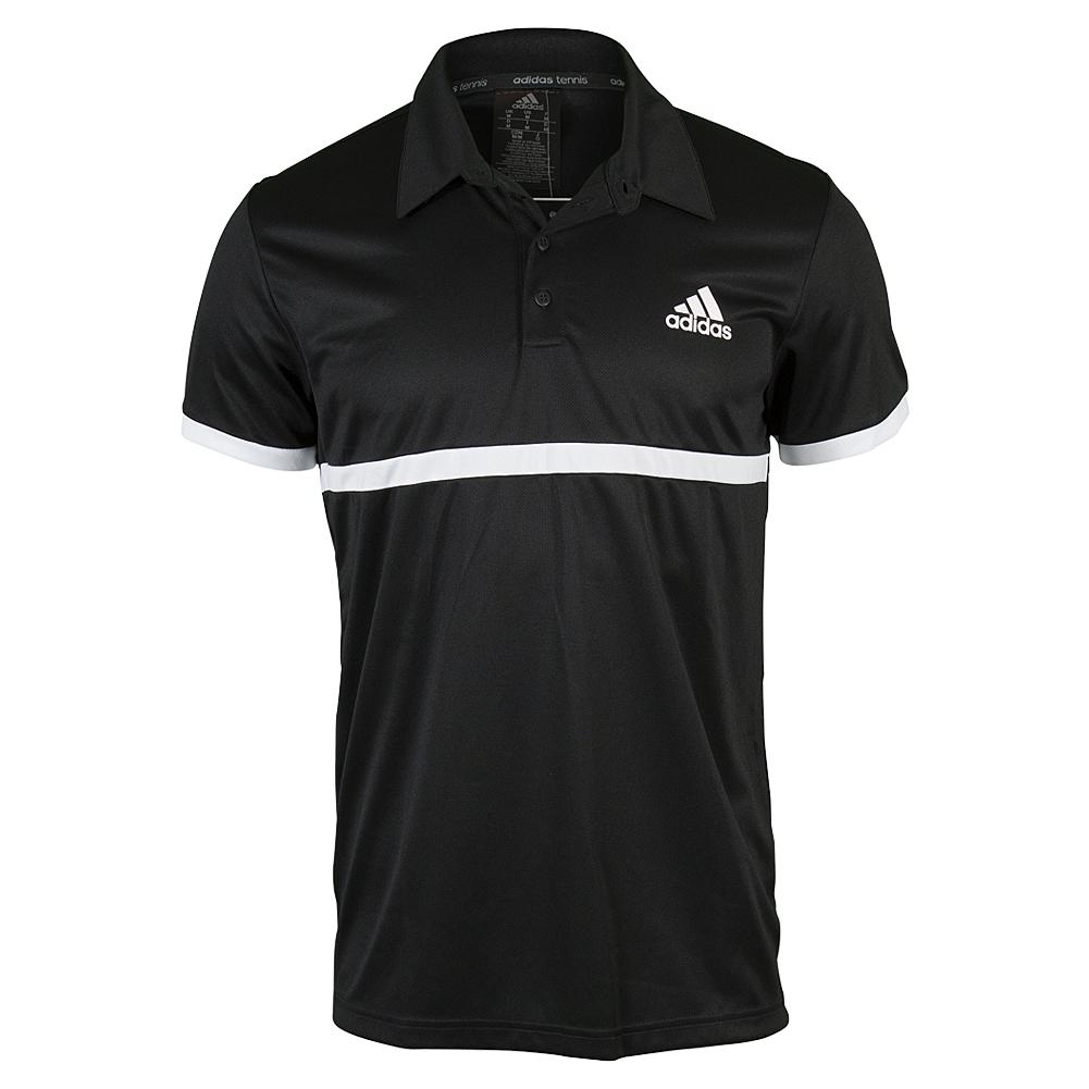 Men's Court Tennis Polo Black And White