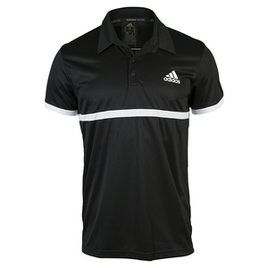 Men`s Court Tennis Polo Black and White