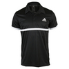 ADIDAS Men`s Court Tennis Polo Black and White