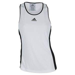 Women`s Court Tennis Tank White and Black