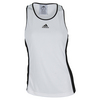 ADIDAS Women`s Court Tennis Tank White and Black