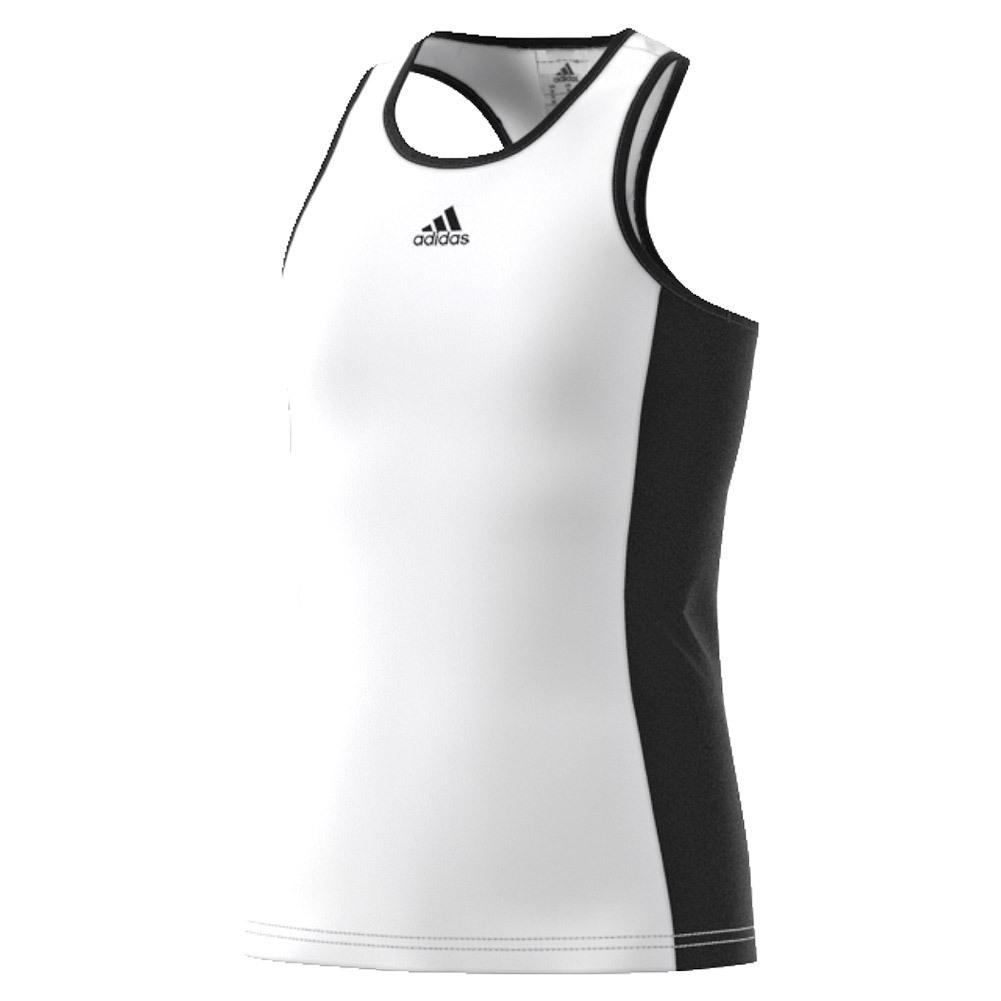 Girls ` Court Tennis Tank White And Black