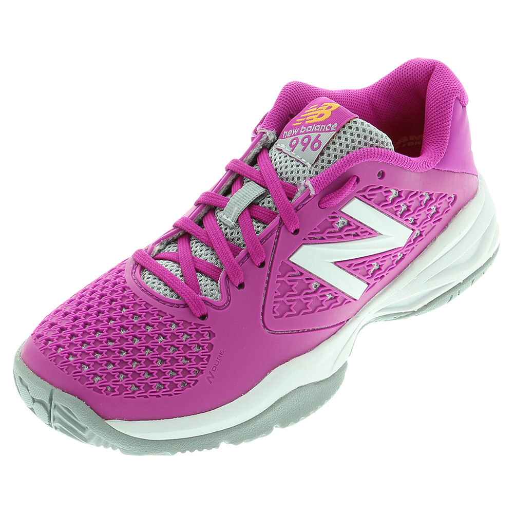 tennis express new balance juniors 996v2 tennis shoes pink
